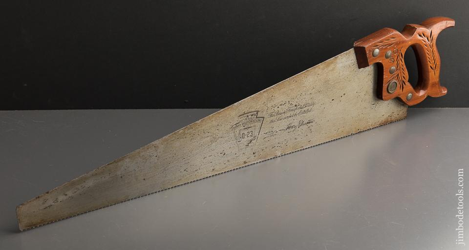 FINE 11 point 26 inch Crosscut DISSTON D23 Hand Saw - 89142