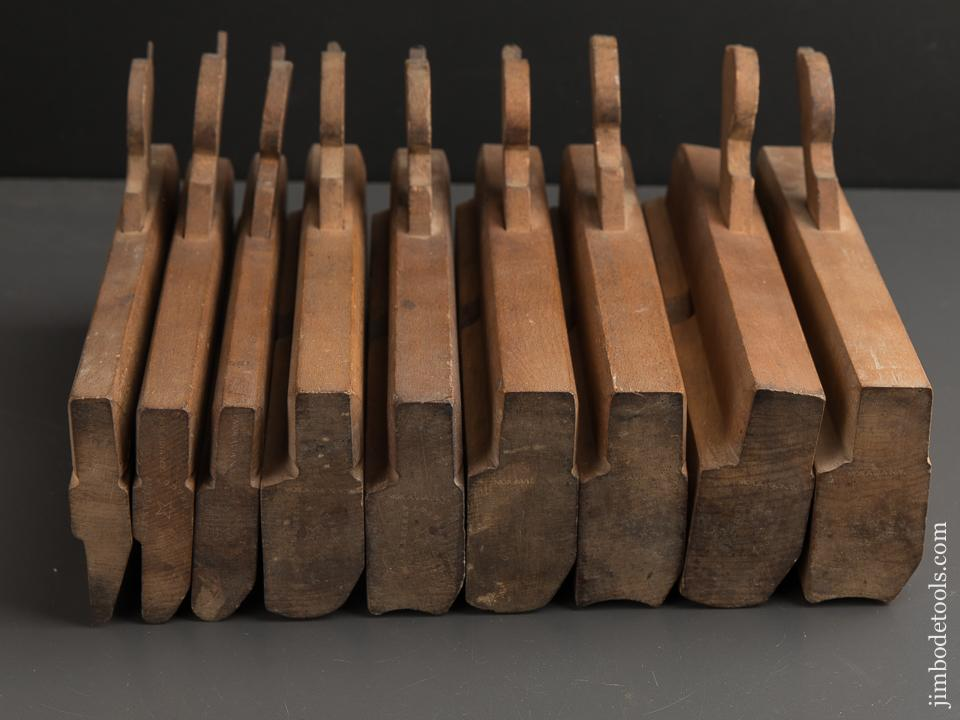 Matched Set of Nine Hollows & Rounds Planes by AUBURN TOOL CO circa 1864-93 EXTRA FINE - 89155