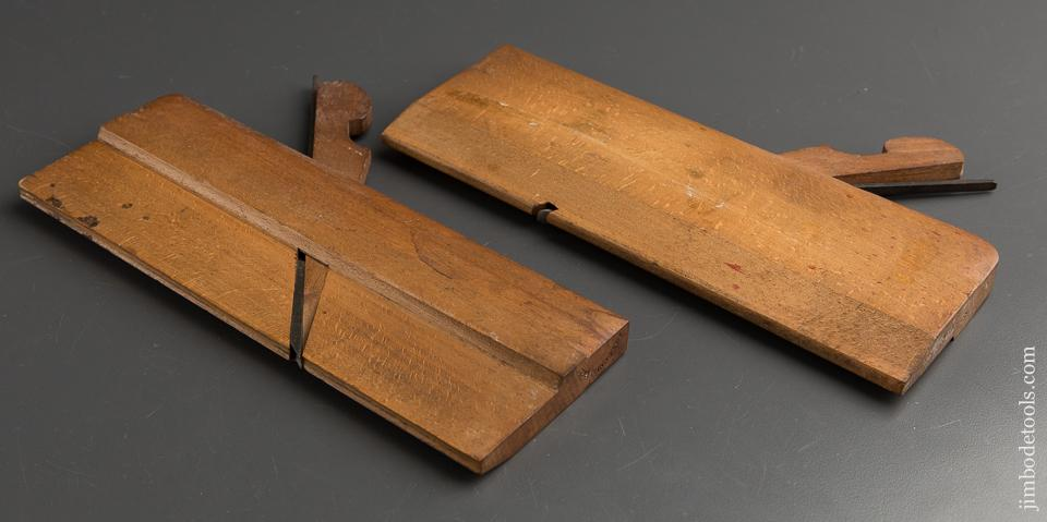 No. 4 Hollow & Round Molding Planes by J.P. LYNE & SON circa 1860 EXTRA FINE - 89178