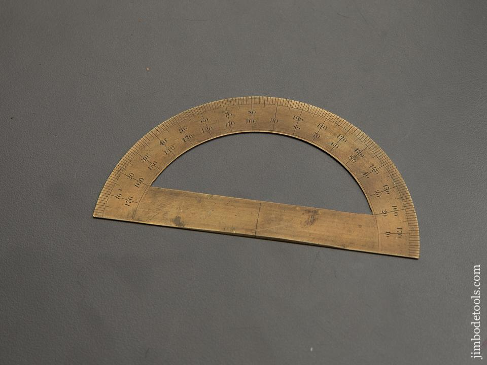 4 3/8 inch Brass Protractor - 89249
