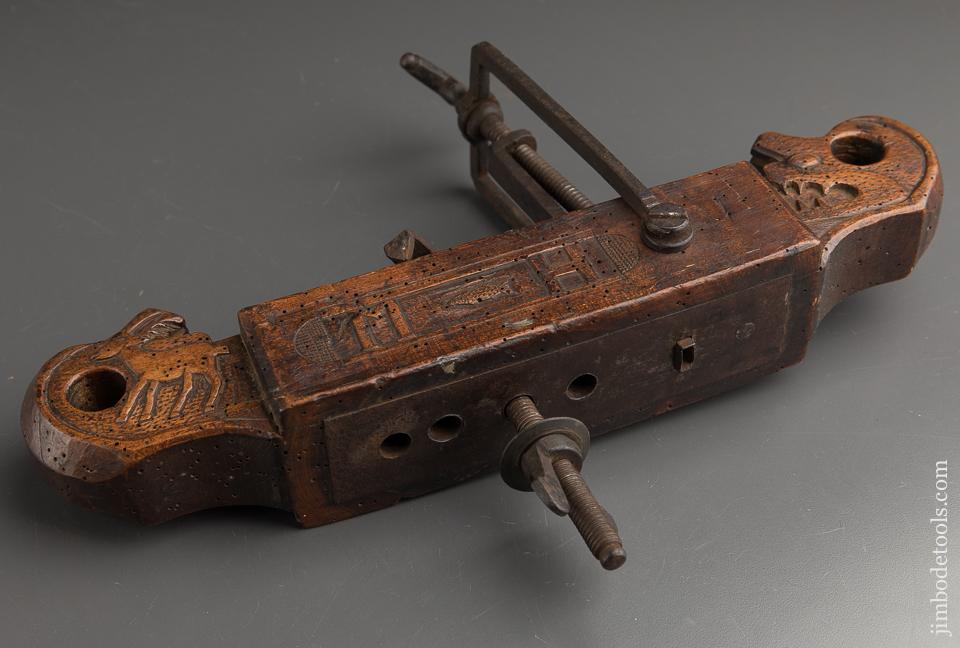 Magnificent Carved Dated 1839 Cooper's Circle Cutting Machine - 89270U