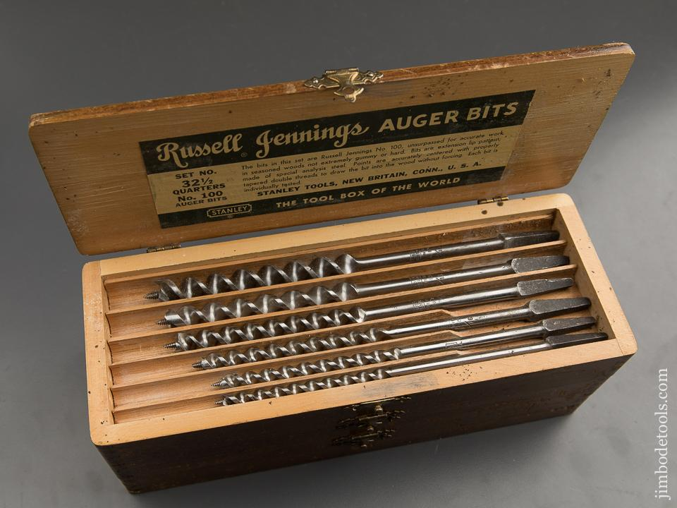 Complete Set of 13 RUSSELL JENNINGS Auger Bits in Original 3 Tiered Box - 89360