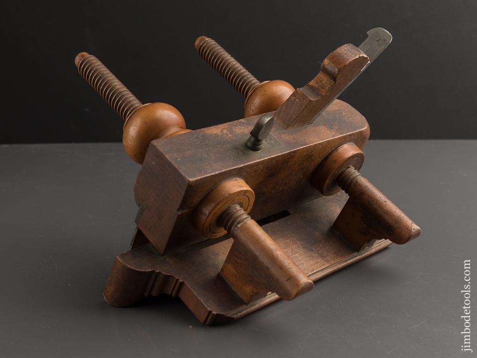 FINE Beech Plow Plane with Boxwood Arms by BURNHAM, FOX & CO circa 1842-44 GOOD USER - 89366