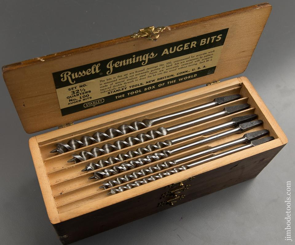 FINE Complete Set of 13 RUSSELL JENNINGS Auger Bits in Original 3 Tiered Box - 89394