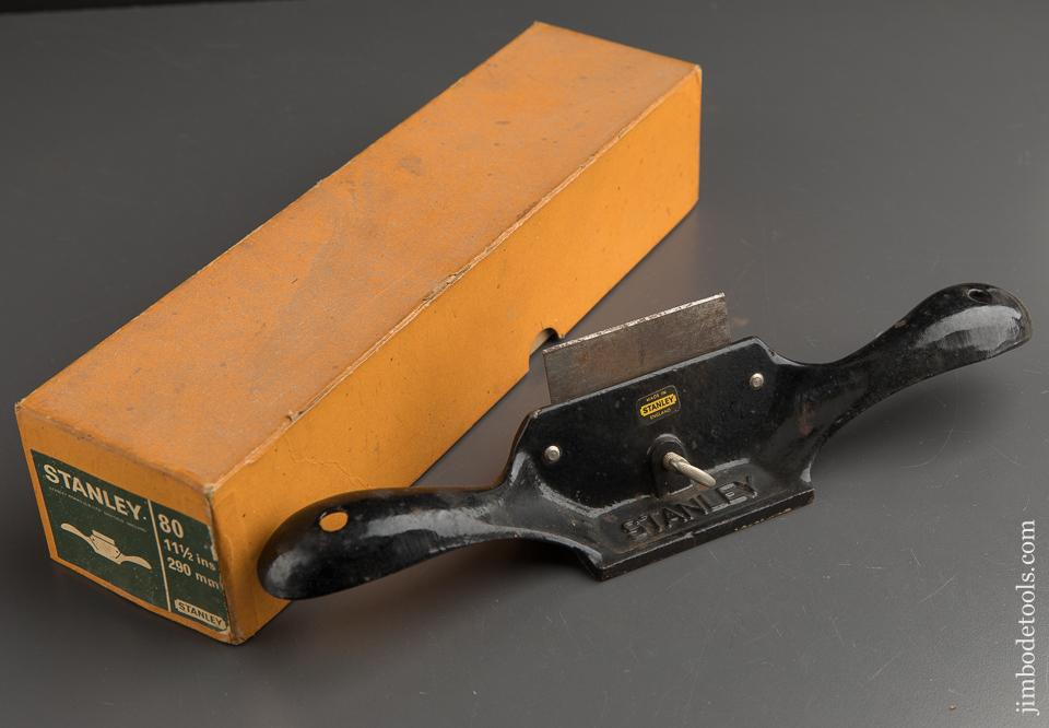 STANLEY No. 80 Scraper Plane in Original Box with Decal - 89397