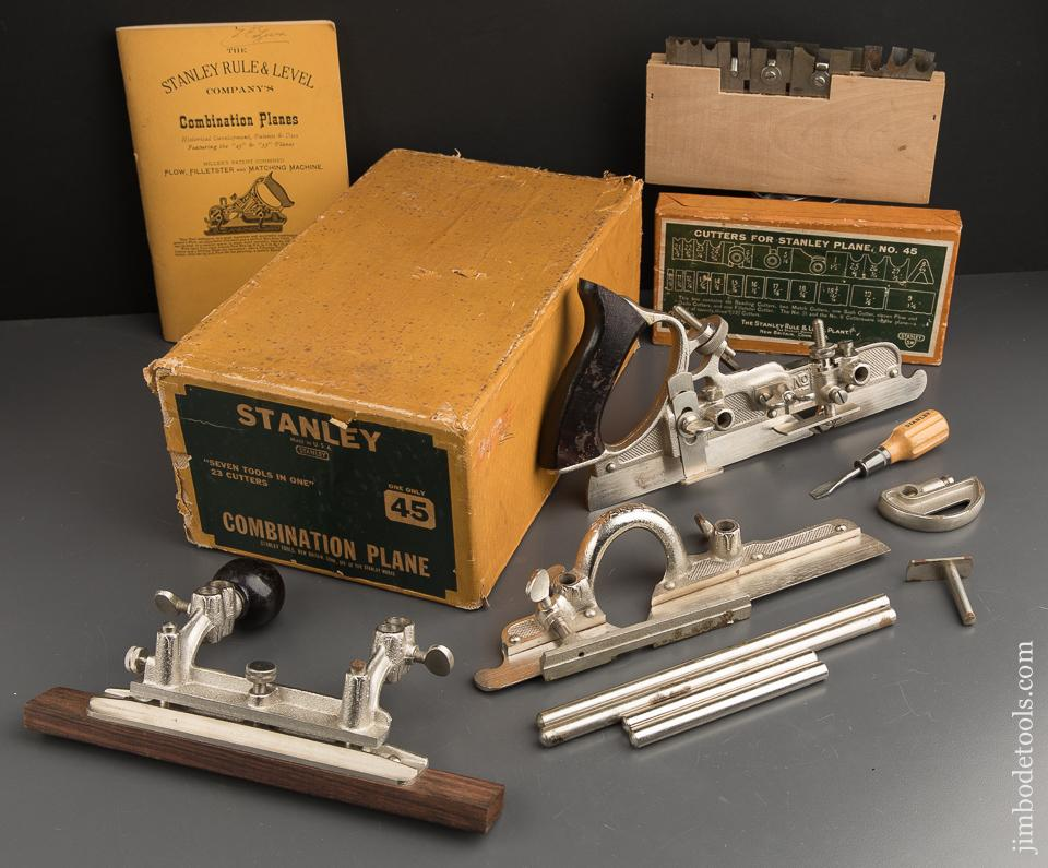 MINT & Unused! STANLEY No. 45 Combination Plane 100% COMPLETE in Original Box - 89419