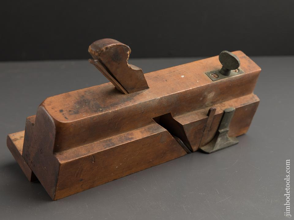 Solid Boxwood Moving Filletster Plane by GREENFIELD TOOL CO, GREENFIELD MASS circa 1851-83 GOOD - 89458