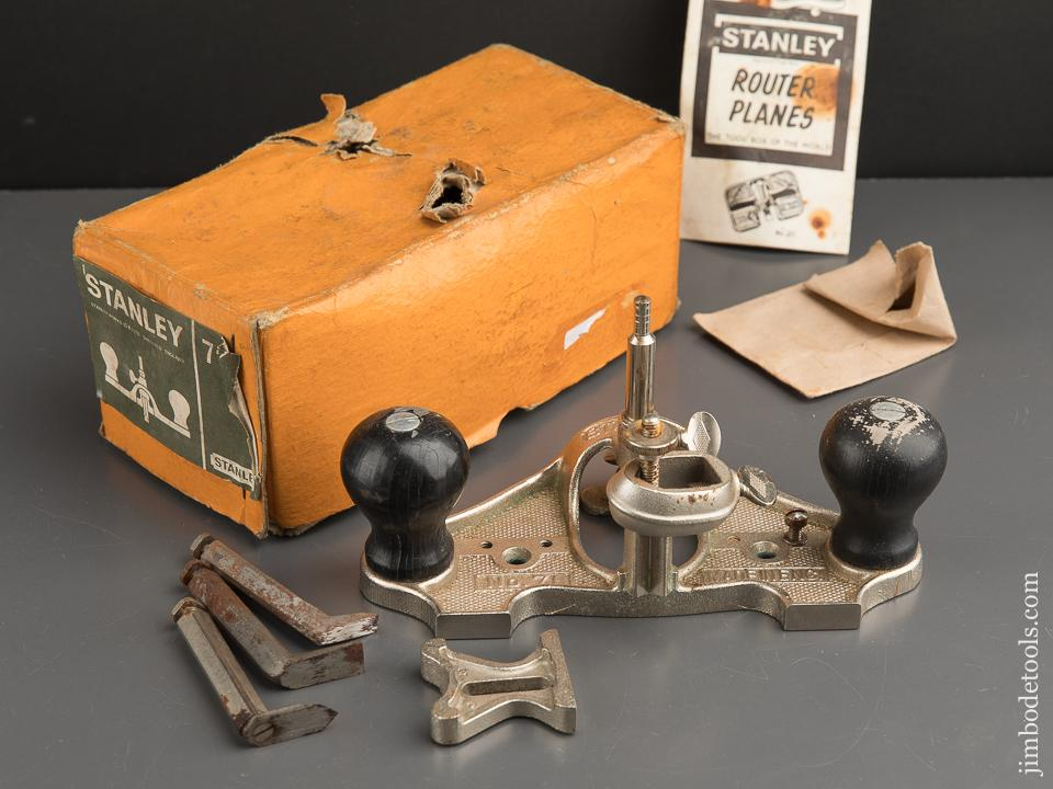 STANLEY No. 71 Router Plane 100% COMPLETE in Original Box - 89486