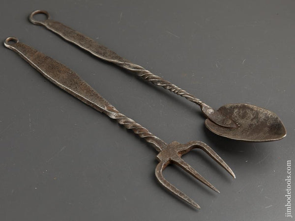 18th Century 12 and 13 inch Forged Utensils - 89551