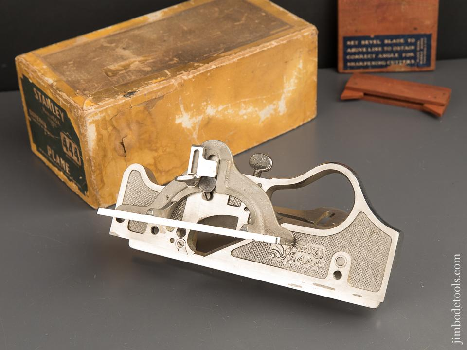 STANLEY No. 444 Dovetail Tongue & Groove Plane 100% MINT and COMPLETE in Original Box - 89604
