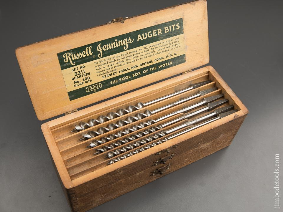 Extra Fine Complete Set of 13 RUSSELL JENNINGS Auger Bits in Original 3 Tiered Box - 89627