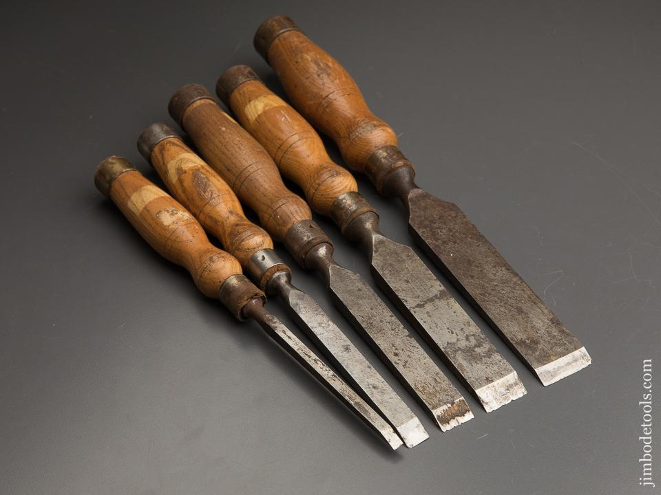 Great Set of Five MARPLES Mortise Chisels - 89697