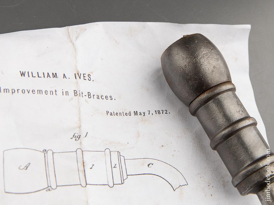 Rare! IVES Patent May 7, 1872 Bit Brace - 89705