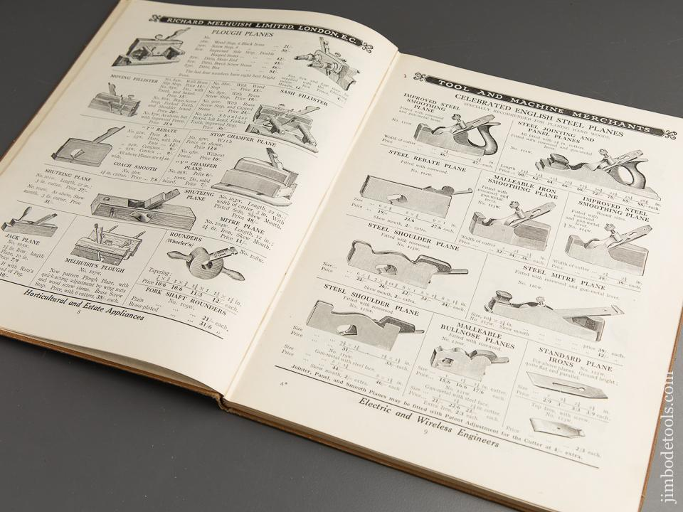 Book: Original 1925 Catalogue No. 25 WOODWORKERS' TOOLS AND MACHINES from ROBERT KELLY & SONS and RICHARD MELHUISH - 89750