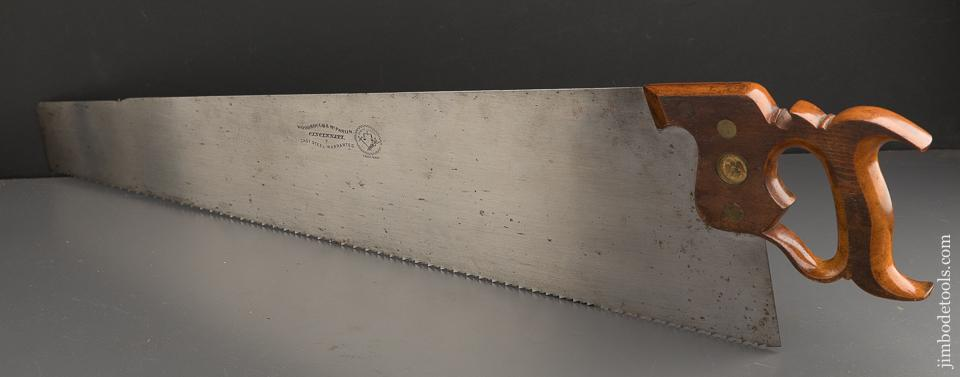Drop Dead Stunning! WOODROUGH & MC PARLIN No. 7 Hand Saw NEW OLD STOCK - 89787U