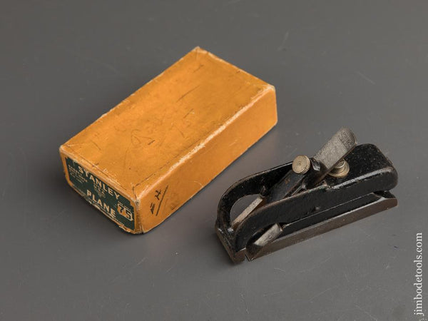 STANLEY No. 75 Bull Nose Rabbet Plane NEAR MINT in Original Box - 89796