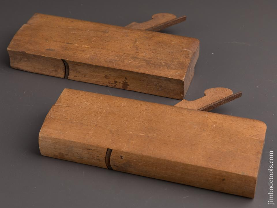 Pair of POND & WELLES No. 14 Hollow & Round Molding Planes circa 1850 New Haven, CT - 90072