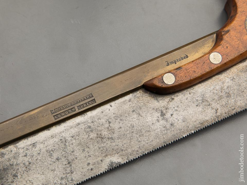 Amazing! 15 point 8 inch MOULSON BROS LONDON SPRING Brass Back Triple Cove Dovetail Saw - 90256U