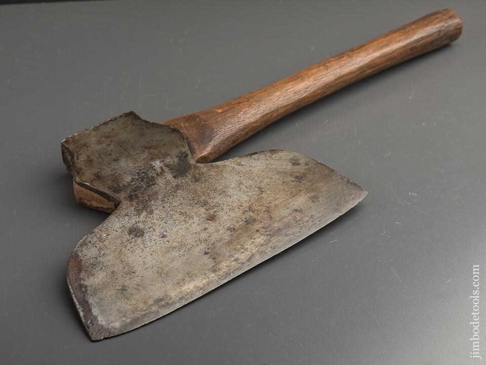 Extra Fine! Seven pound BEATTY & SON CHESTER PA Broad Axe with Cow Logo - 90328