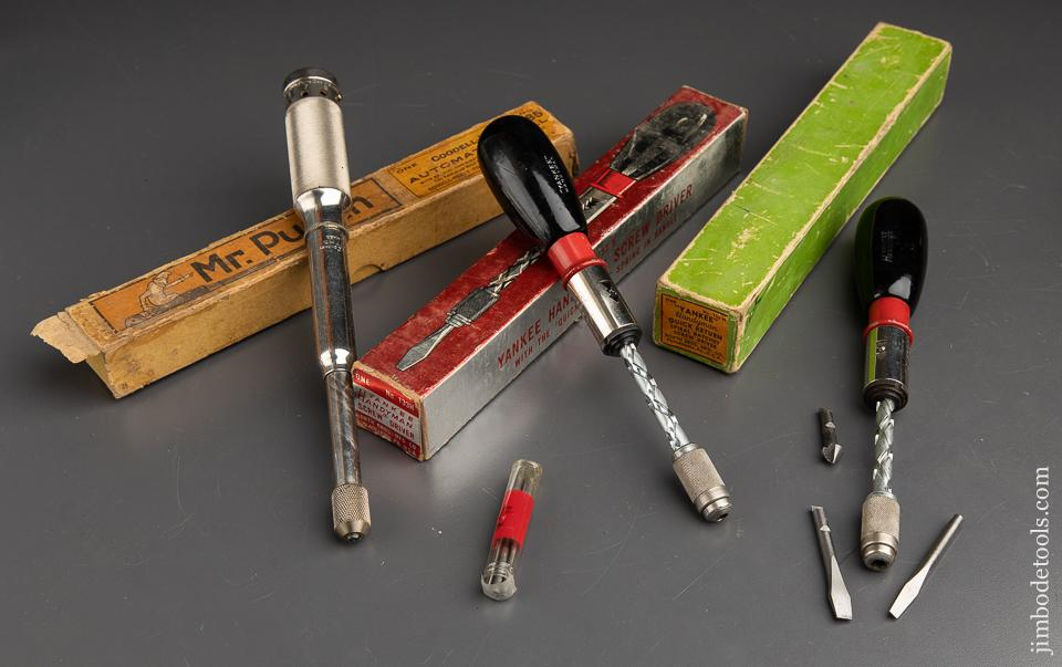 Two YANKEE No. 133H HANDYMAN Spiral Ratchet Screw Drivers and One GOODELL-PRATT No. 185 Automatic Drill in Original Boxes - 90779