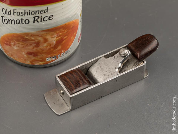 Miniature Dovetailed Steel Rosewood Stuffed Mitre Plane Reproduction Of An L. BRANDT By Dominic Micalizzi -- 91110U