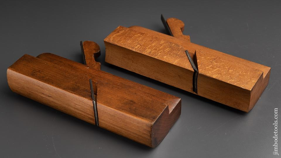 1 3/4 inch wide Pair of D.R. BARTON No. 22 Hollow & Round Molding Planes - 91247