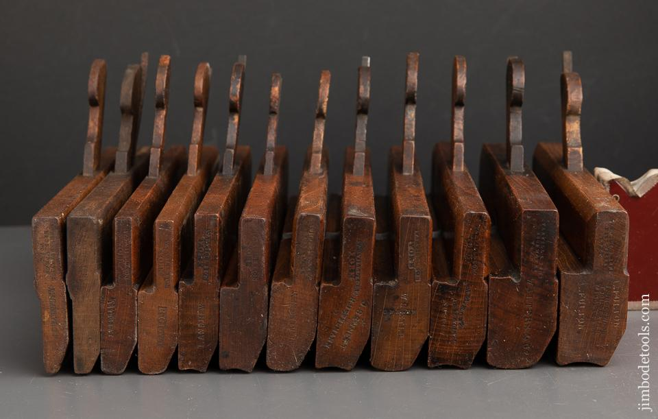 Set of Twelve User Hollows & Rounds Moulding Planes by VARVILL YORK - 91256