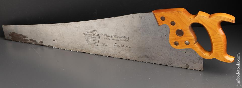 8 point 26 inch Crosscut DISSTON D8 Hand Saw - 91347