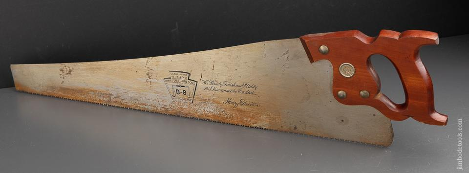 NEW OLD STOCK 8 point 24 inch Crosscut DISSTON D8 Hand Saw - 91372