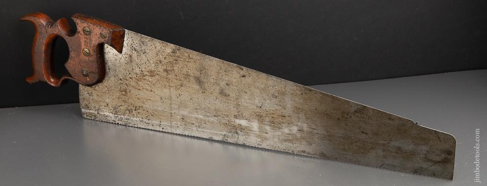 NEW OLD STOCK 8 point 26 inch Crosscut ATKINS SILVER STEEL No. 51 Skew Back Hand Saw - 91383