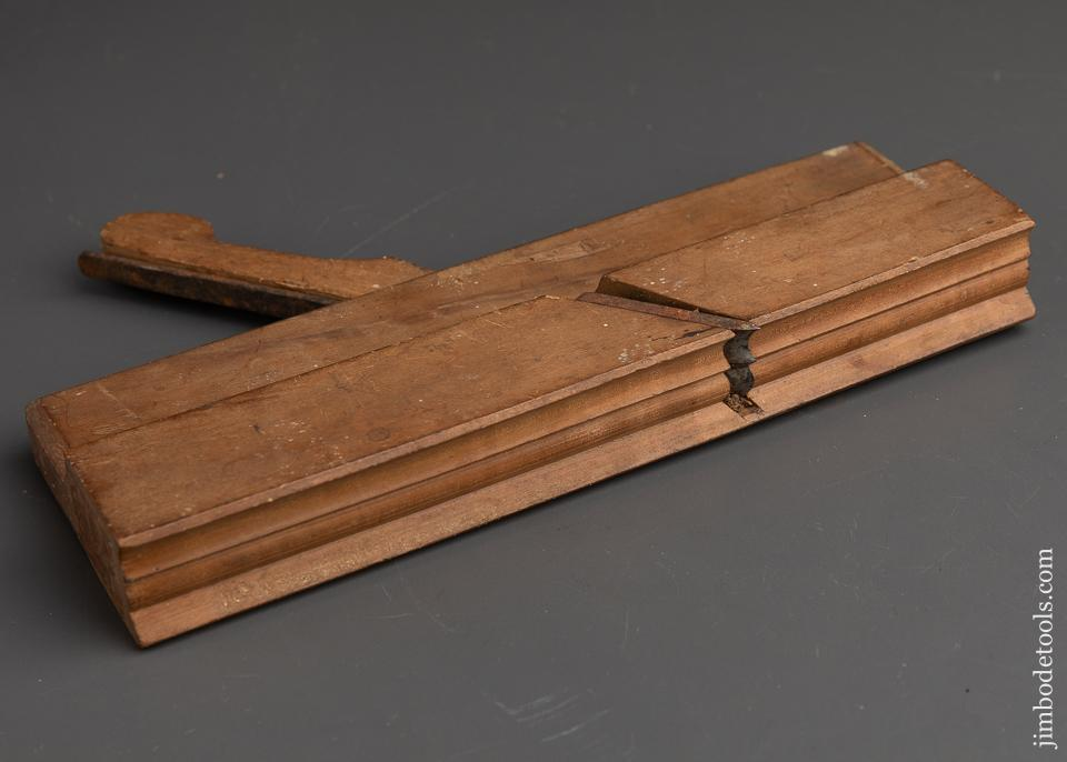 Stunning! 18th Century Applewood Moulding Plane by OLNEY - 91542U