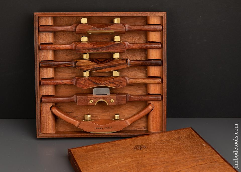 Ridiculous! Set of Six HARRIS TOOLS Travisher AND Spoke Shaves in Original Box MINT! - 91855