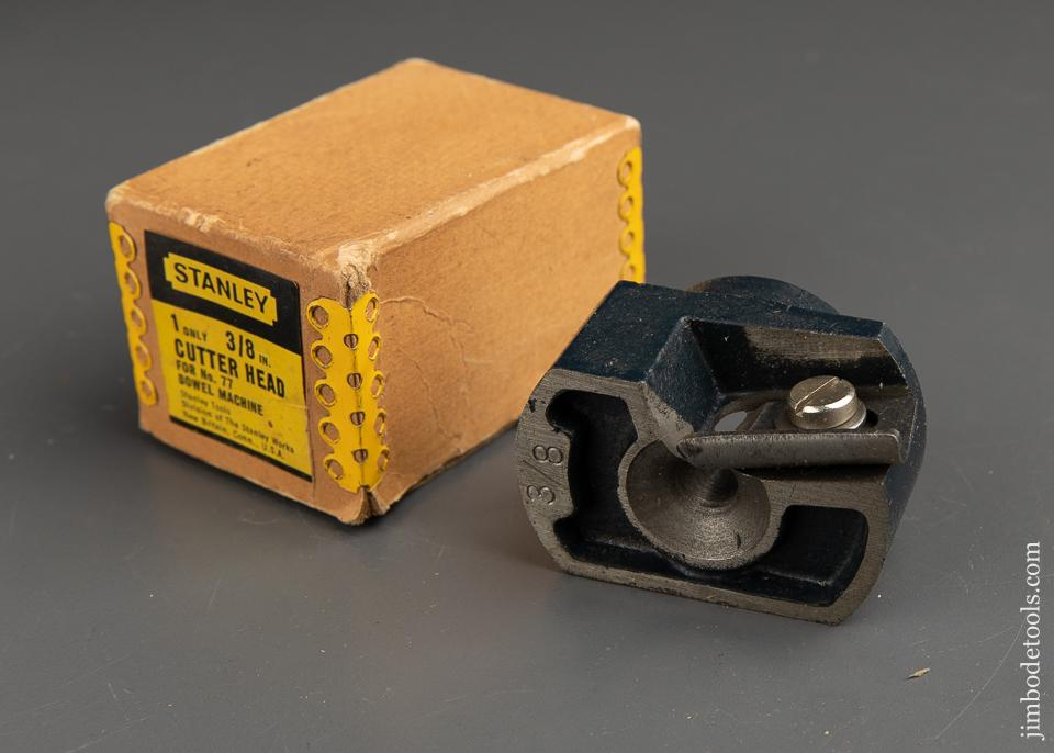 STANLEY 3/8 inch Cutter Head for STANLEY No. 77 Dowel Machine MINT in Original Box - 91891