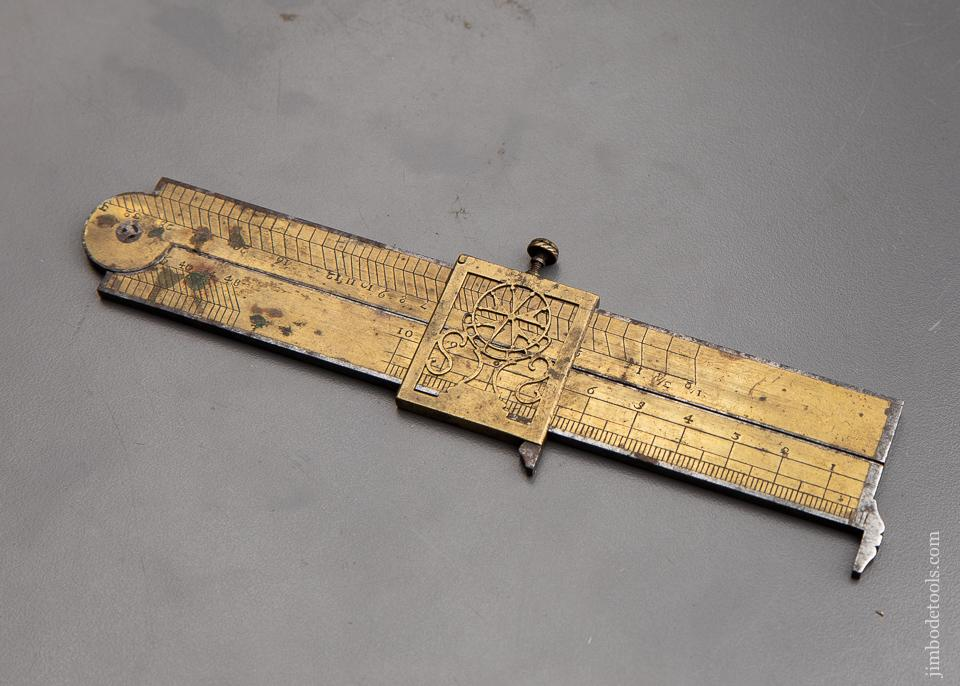 AMAZING! 18th Century Calculating Rule and Caliper - 92198U