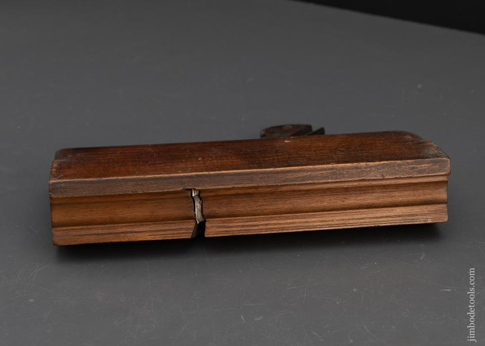 1 3/16 inch Wide Crispy Complex Moulding Plane by KING & PEACH HULL circa 1848-64 GOOD+ - 92840
