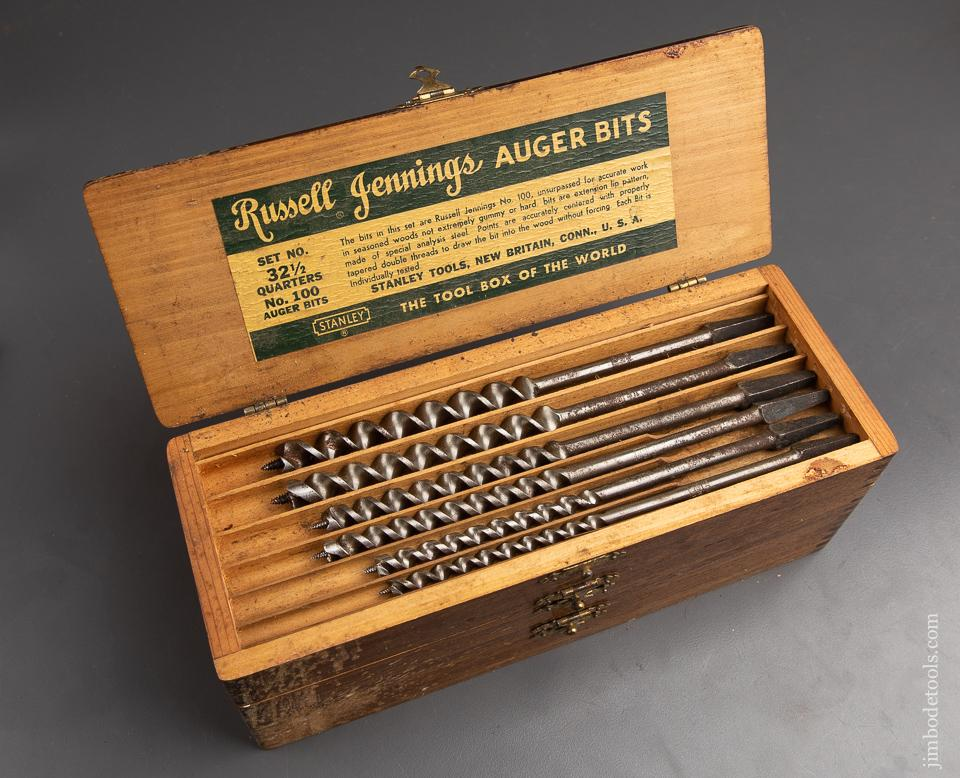 Fine Complete Extra Fine Set of 13 RUSSELL JENNINGS Auger Bits in Original 3 Tiered Box - 92918