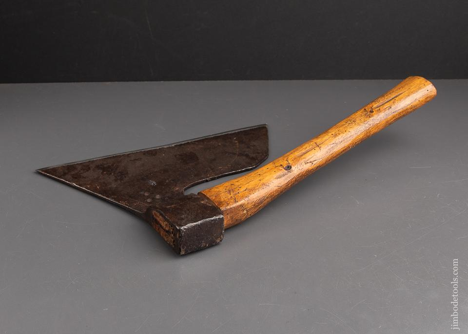 Awesome & Early Single Bevel Side Axe - 92958