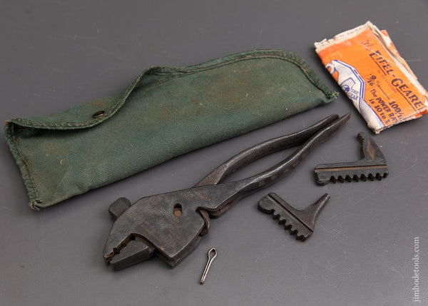 Patented EIFEL-GEARED PLIERENCH KIT in Original Pouch with Instructions! - 93089