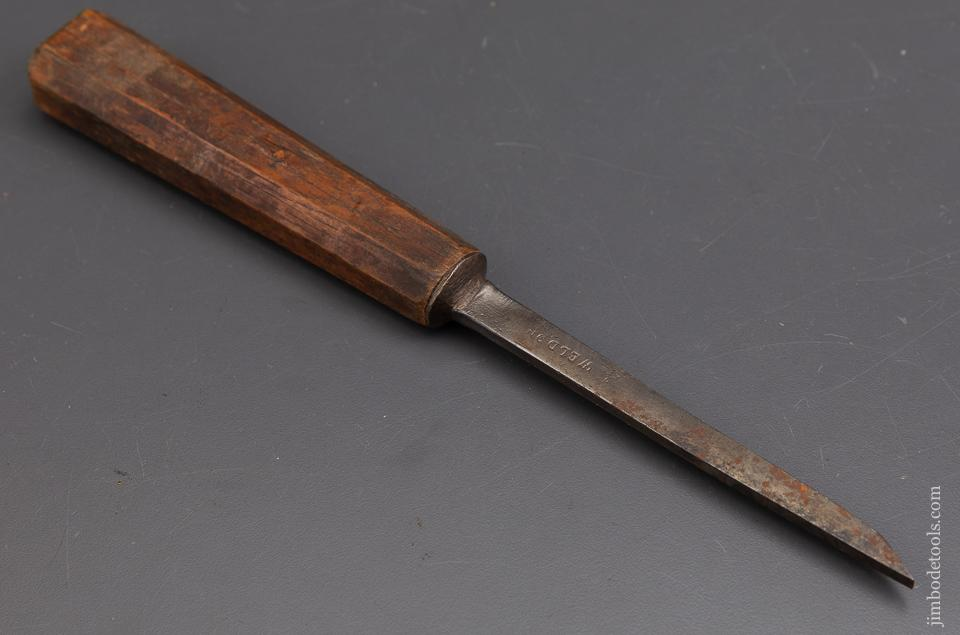 Magnificent 18th Century WELDON 3/16 inch Pig Sticker Mortise Chisel - 93134