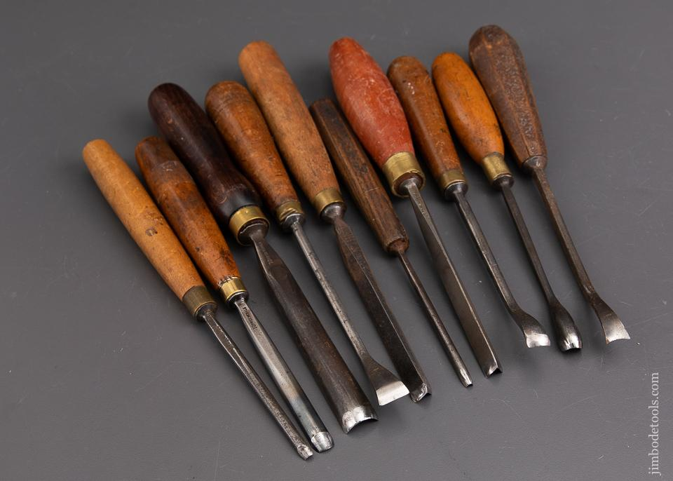 Ten Awesome ADDIS Carving Chisels - 93159