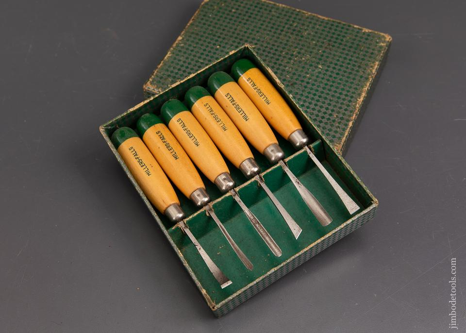 MILLERS FALLS No. 106 Carving Tool Set MINT in Original Box - 93185