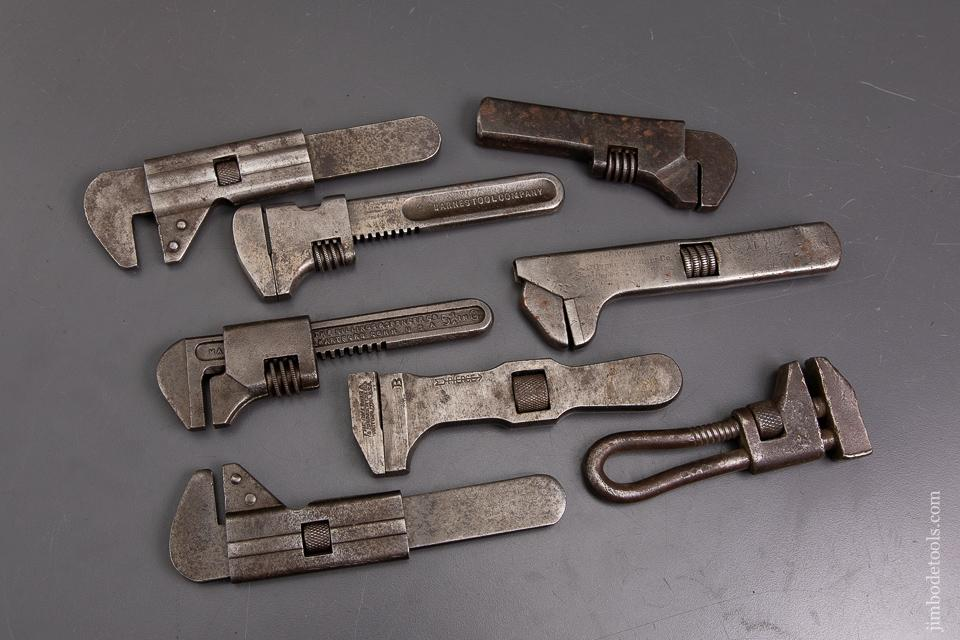 Assortment of Eight Patented Bicycle Wrenches and Nut Wrenches - 93193