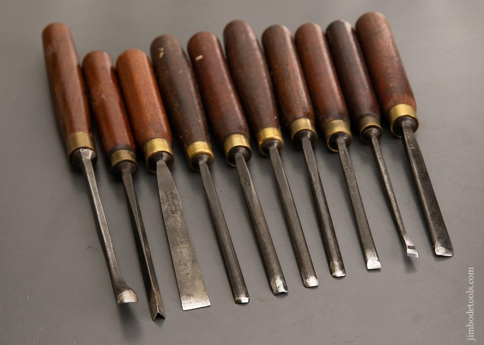 Ten ADDIS Carving Gouges - 93307