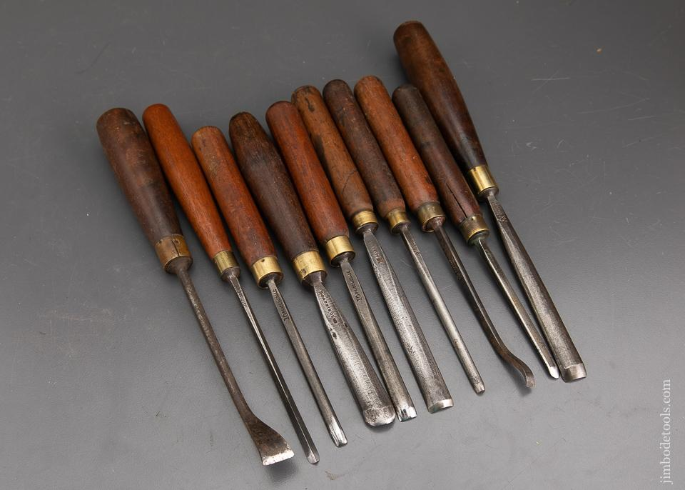 Set of Ten ADDIS Carving Gouges - 93308