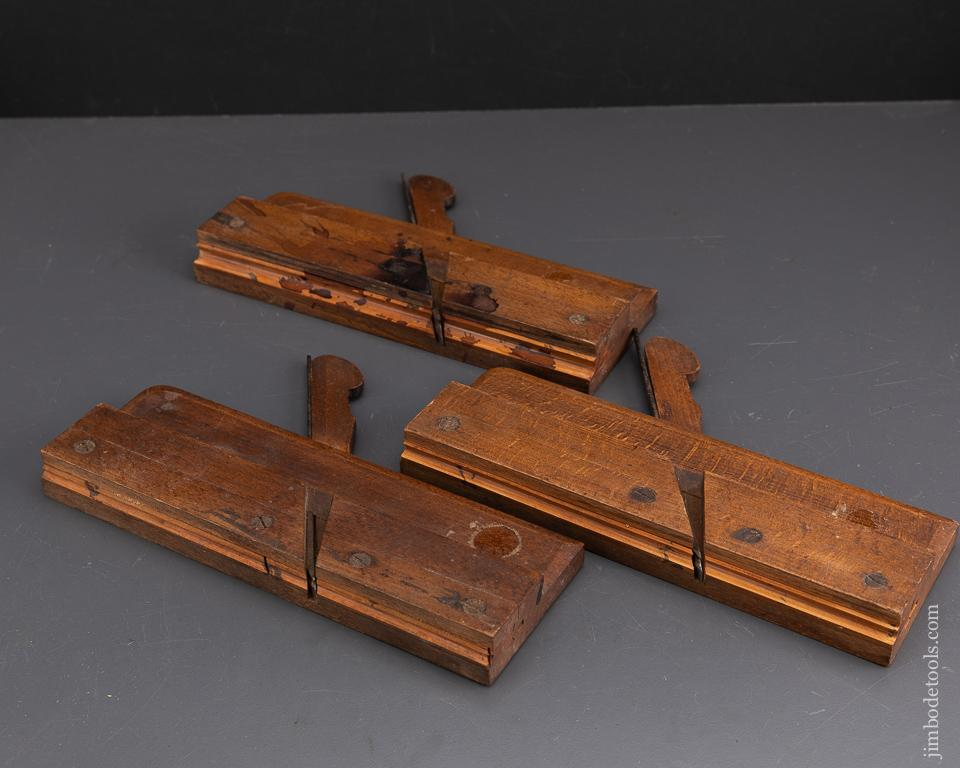 Three Small Side Bead Moulding Planes by MOSELEY & SON circa 1819-1830 FINE - 93342