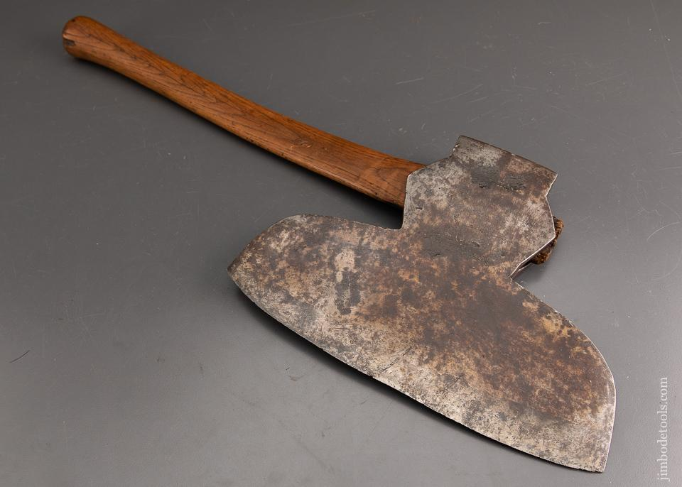 Fine BEATTY Single Bevel Offset Broad Axe with 1806 Date - 93408