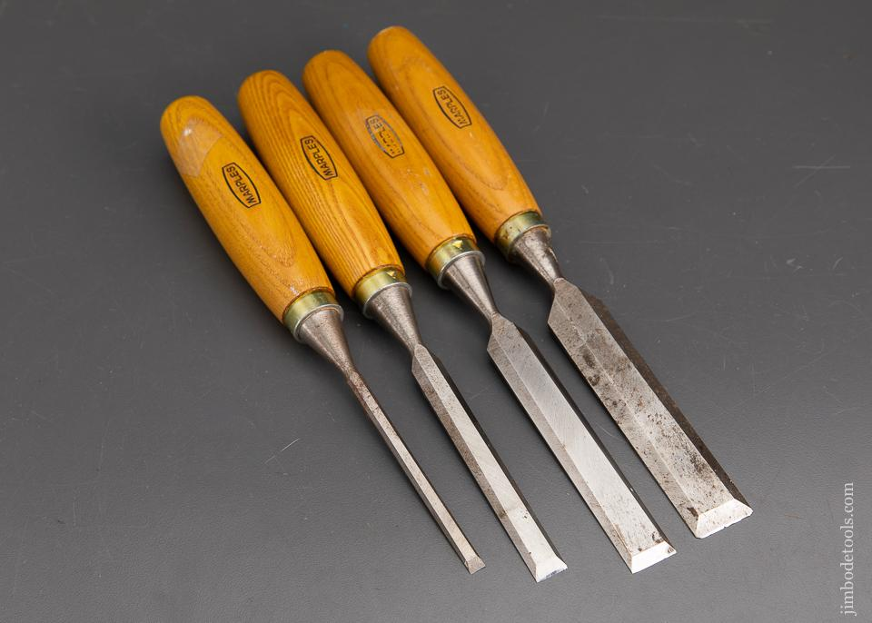 Set of Four MARPLES Bevel Edge Chisels - 93411