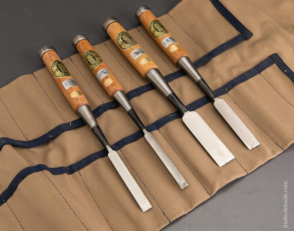 MINT! Set of Four IOYORI  Firmer Chisels with Decals in Roll - 93421
