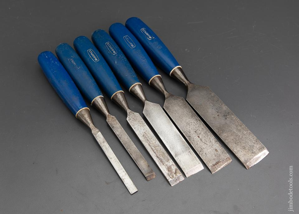 Set of Six MARPLES Blue Chip Firmer Chisels - 93426