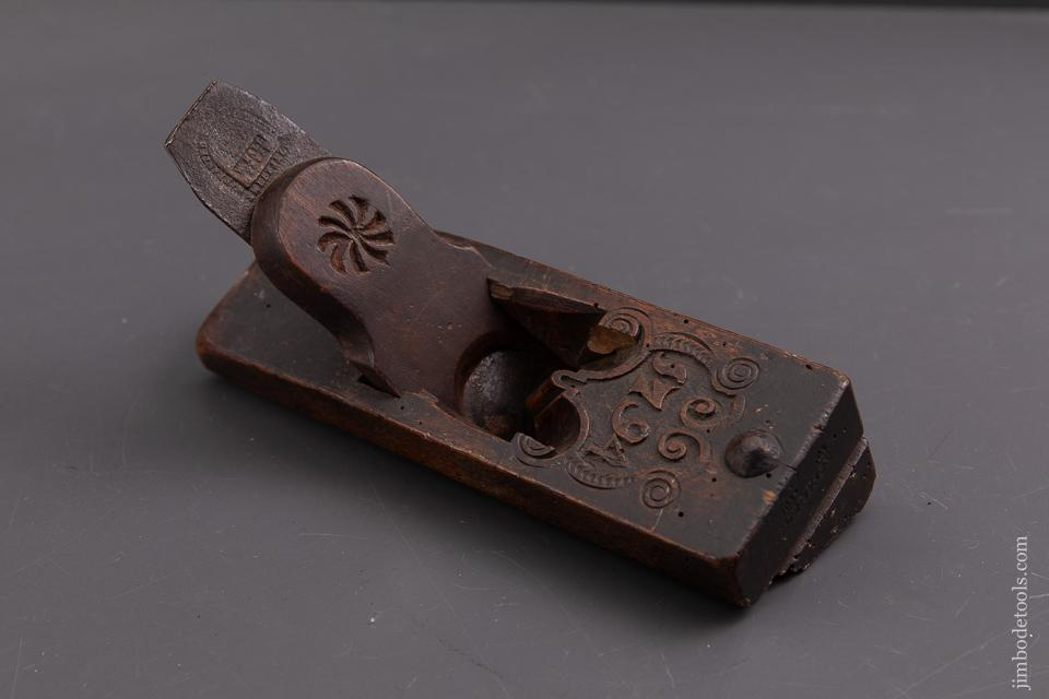 Lovely Carved Dutch Moulding Plane Dated 1794 by I.W. EVERTSEN - 93428UR